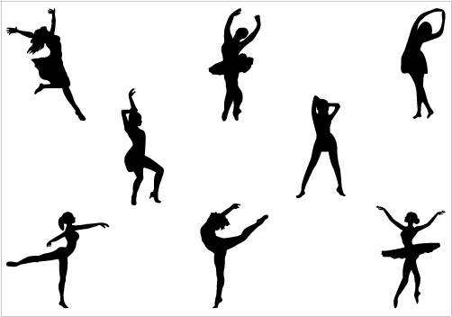 Dance Silhouette Vector - silhouettevector clipartall.com | Dance Silhouette Vector | Pinterest | Ballet, Clip art and Pictures