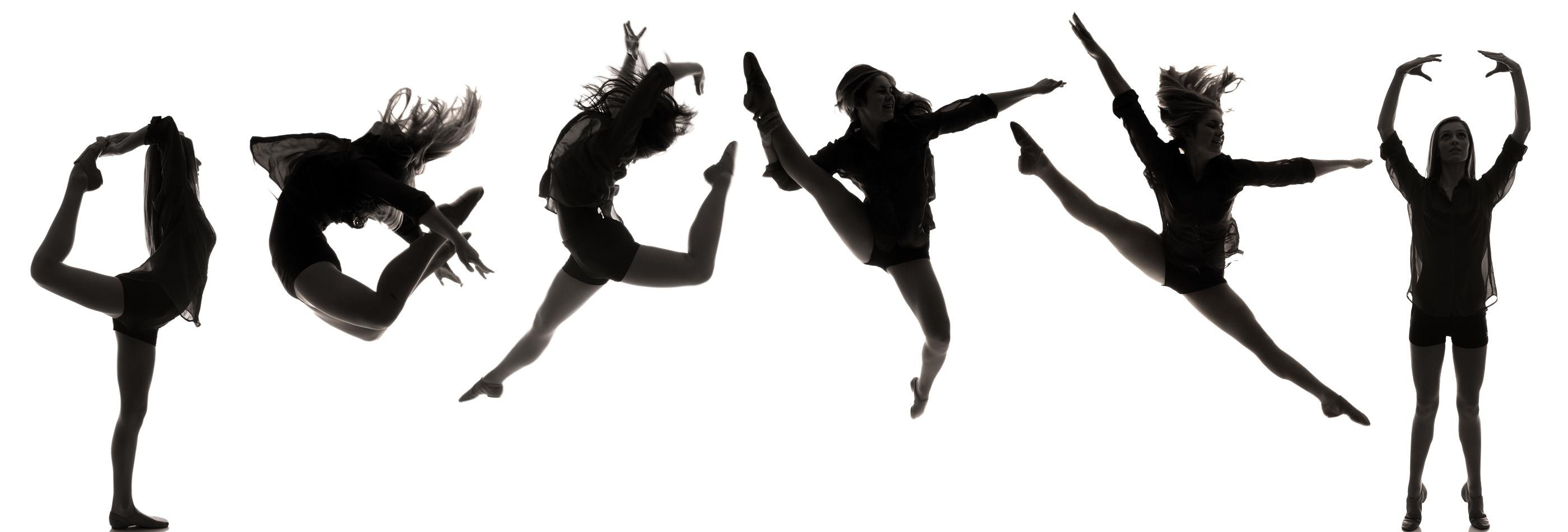Dance Team Silhouette Clipart