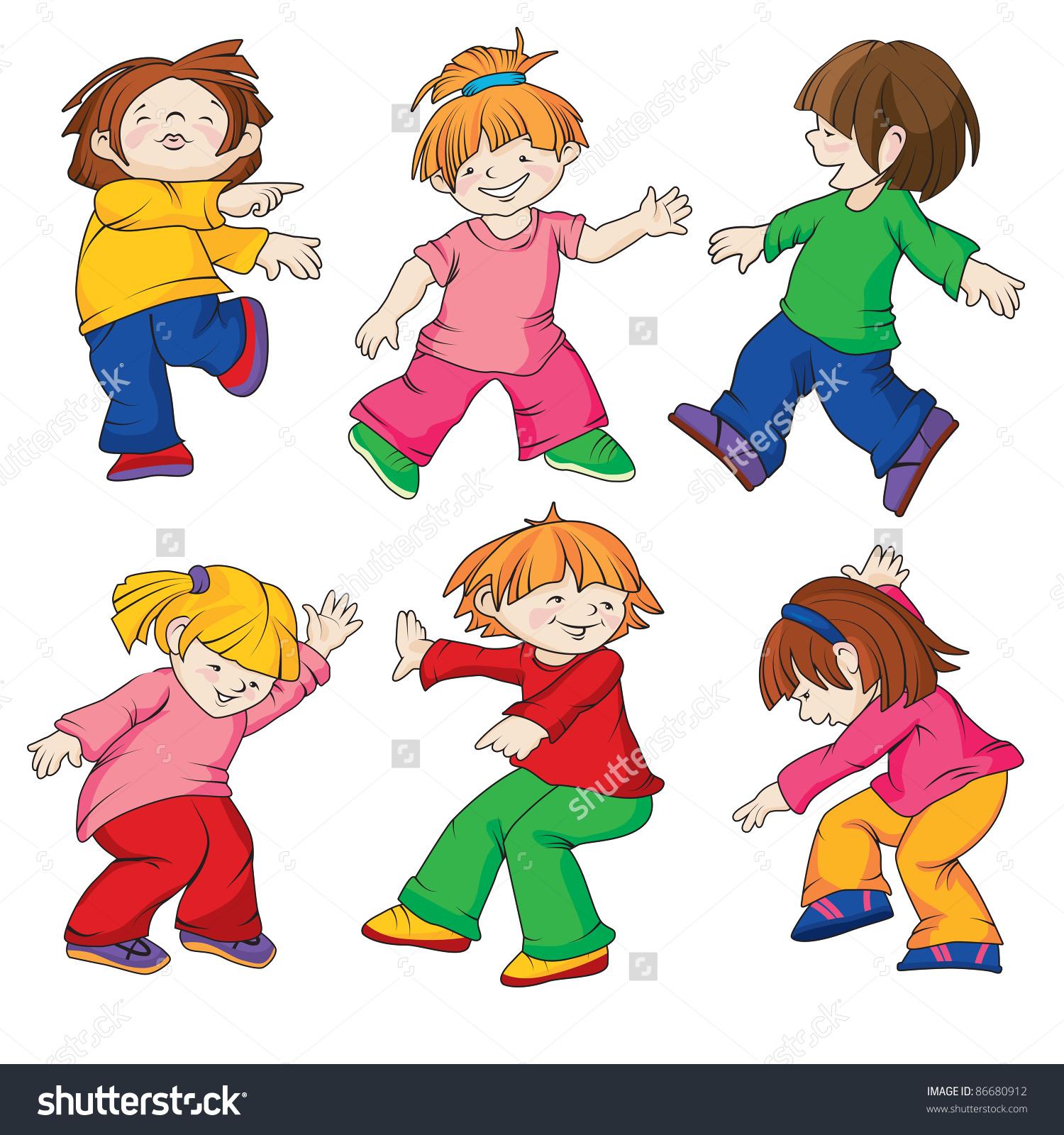 dancing children , all details .
