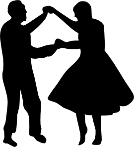 Dancing Couple Fifties Clip Art At Clker Com Vector Clip Art Online