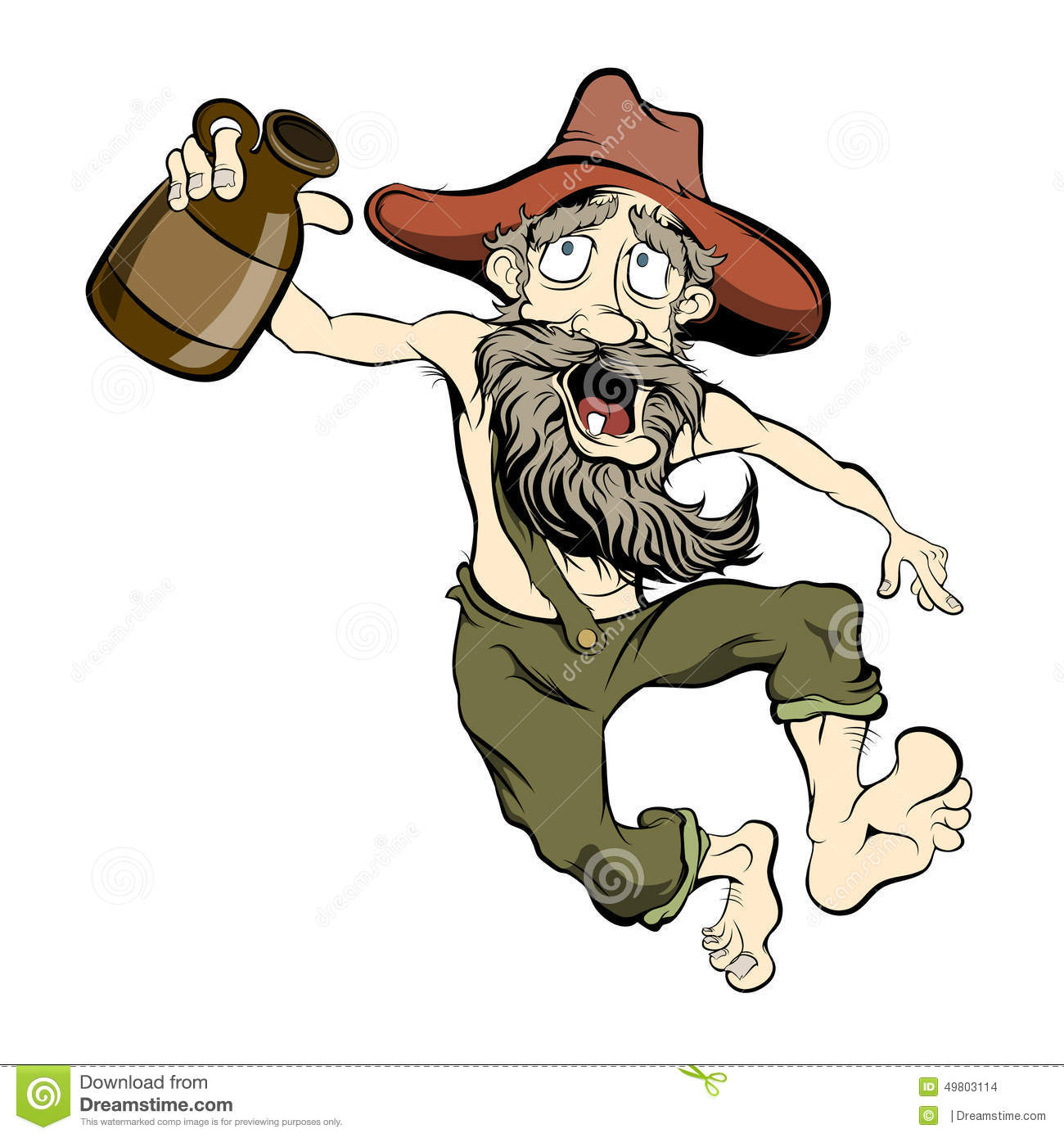 Dancing Hillbilly Stock Image - Hillbilly Clipart
