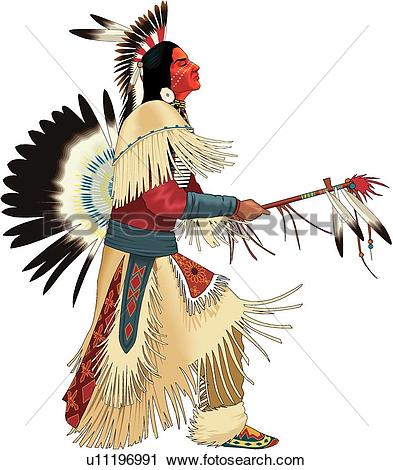 Dancing Indian - Indian Clip Art
