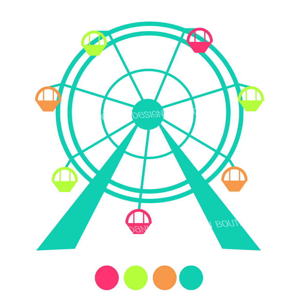 Danielleu0026#39;s Design Bou - Ferris Wheel Clipart