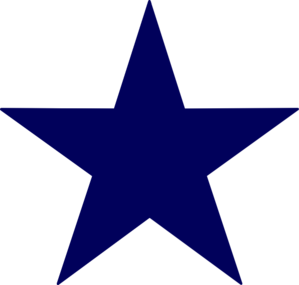 Dark Blue Star Clip Art At Clker Com Vector Clip Art Online Royalty