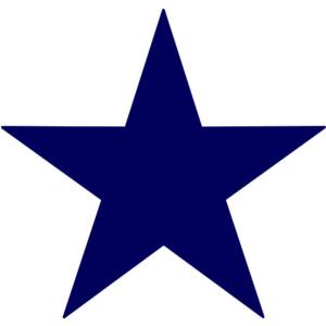 Dark Blue Star clip art