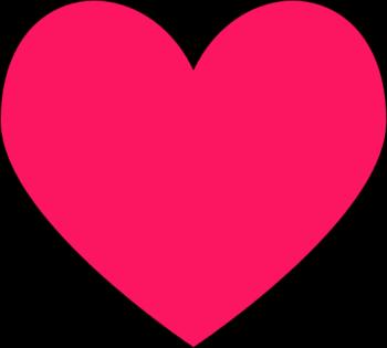 Dark Pink heart - Heart Images Clip Art