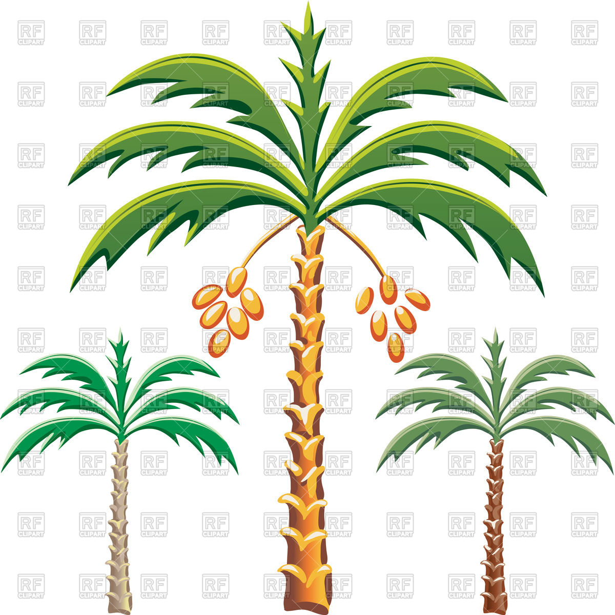 Date palm trees Vector Image u2013 Vector Illustration of Plants and Animals ©  volhakavalenkava #45315 Click to Zoom