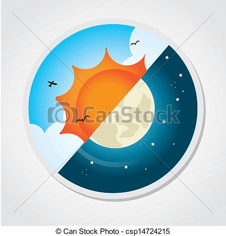 ... Day And Night Design Over Gray Backg-... day and night design over gray background vector... ...-5