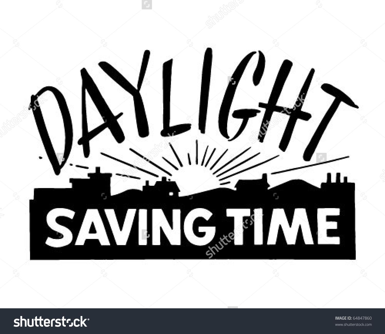 Daylight Saving Time - Ad Banner - Retro-Daylight Saving Time - Ad Banner - Retro Clipart-15