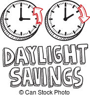 ... Daylight savings time sketch - Doodle style illustration of.