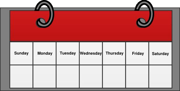 Days Of The Week Calendar Clipart Calend-Days Of The Week Calendar Clipart Calendar Clip Art Vector-19