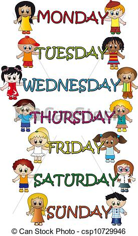 Days Of The Week Clipart #1. Stock Illus-Days Of The Week Clipart #1. Stock Illustration Days Of ..-5