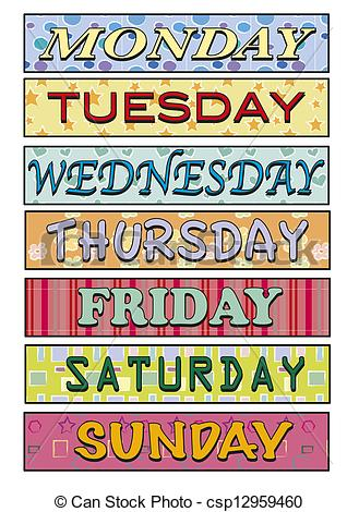 Days Of The Week - Csp12959460-Days of the week - csp12959460-9