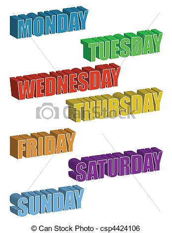 Days Of The Week - Csp4424106-Days of the Week - csp4424106-10