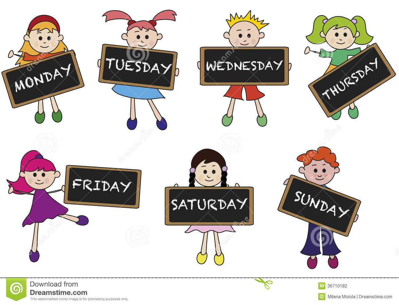 Days Of Week Stock Photography Image 367-Days Of Week Stock Photography Image 36710182-12
