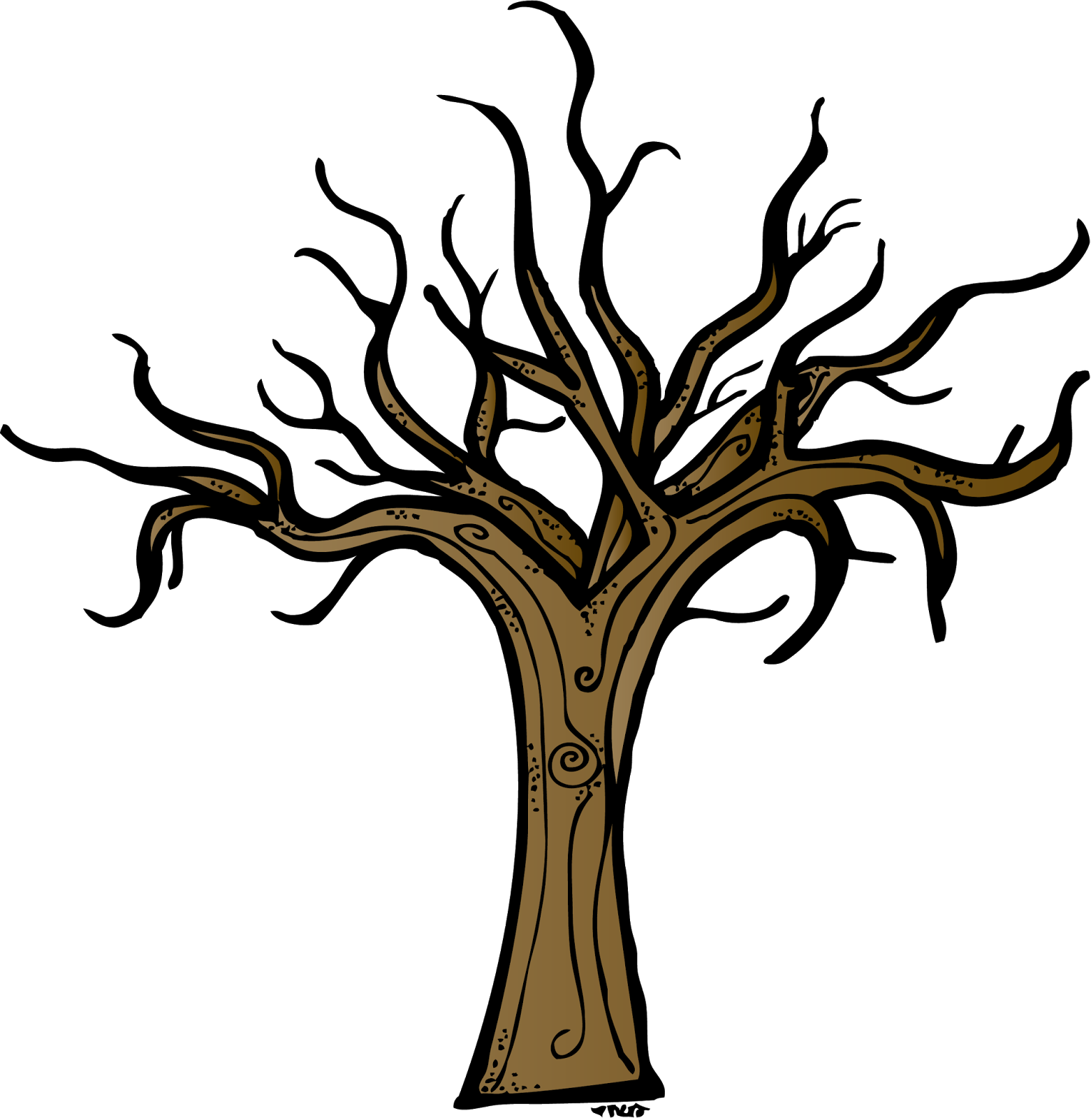 Dead Tree Trunk Clip Art