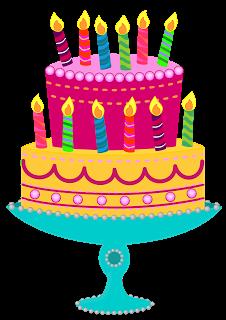 December birthday cake clipart