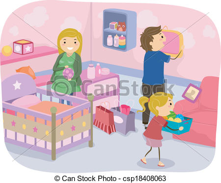 Family Nursery Decoration - csp18408063
