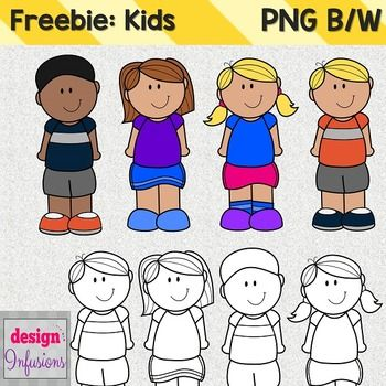 FREE These cutie kids clipart are ready to decorate your materials!Whatu0027s  Included:4