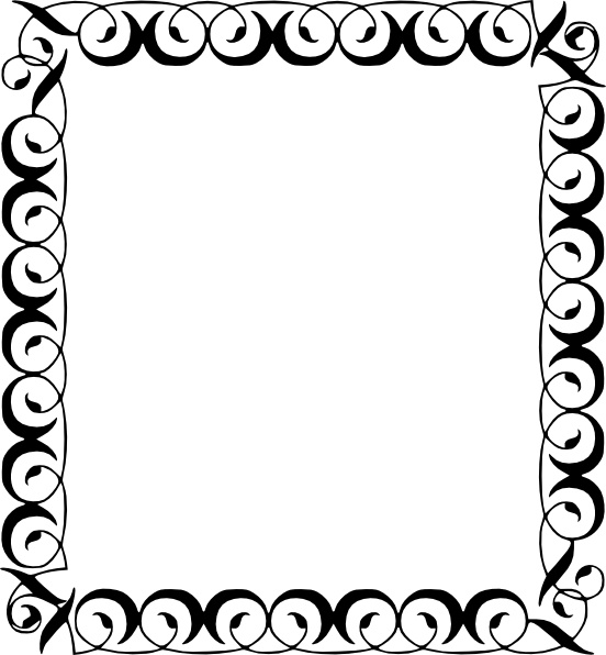 Decorative Border Clip Art-Decorative Border clip art-0