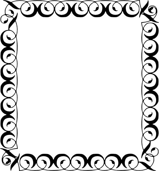 Decorative Border clip art Free vector 147.72KB