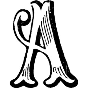 Decorative Letter A Clipart-Decorative Letter A Clipart-16