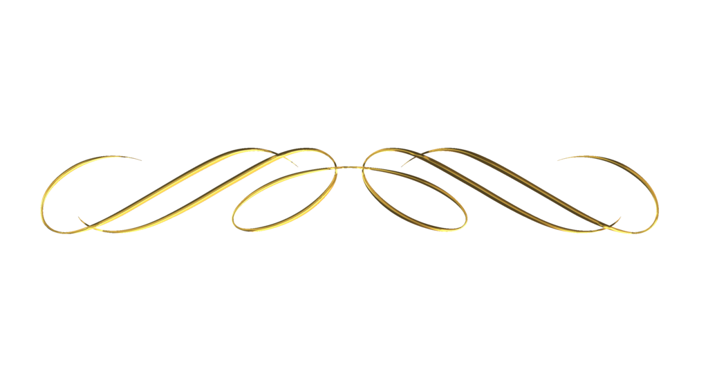 Decorative Line Gold Clipart divider