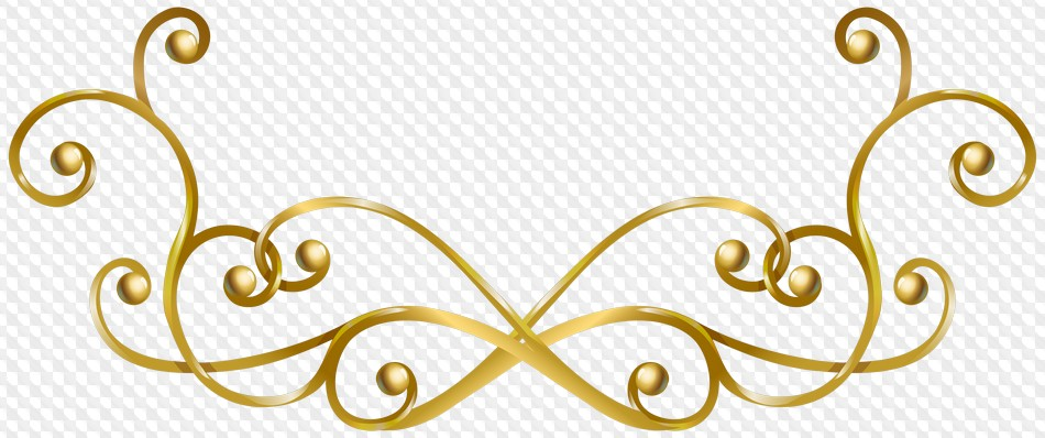 Decorative Line Gold Clipart gold png-Decorative Line Gold Clipart gold png-10