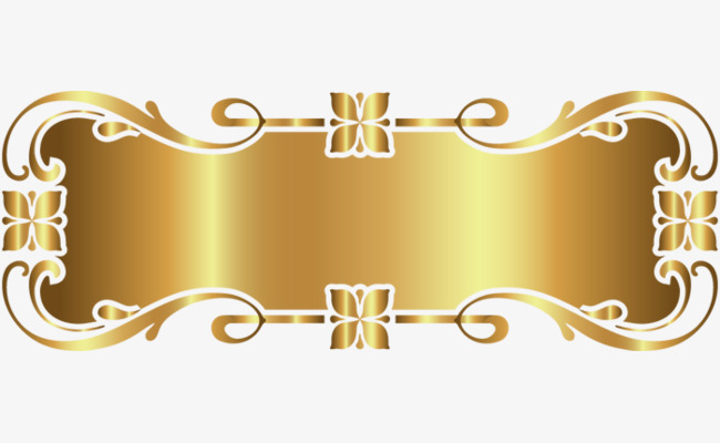 gold decorative frame, Frame, Decoration, Golden PNG Image and Clipart