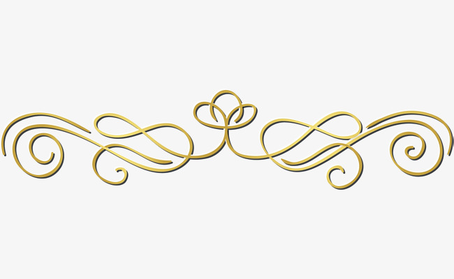 small fresh gold lines, Flower, Decorative Pattern, Golden PNG Image and  Clipart