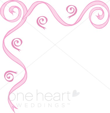 Decorative Ribbon Invitation Borders U00-Decorative Ribbon Invitation Borders u0026middot; Whimsical Curls in Pink-8