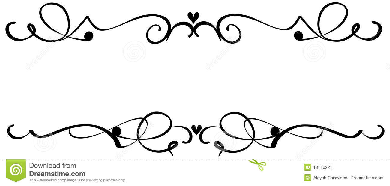 Decorative scroll clip art .