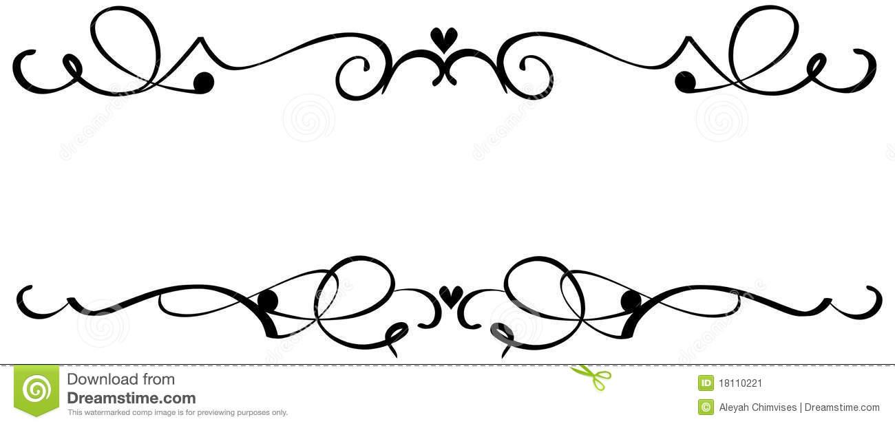 Fancys scroll. Fancy clip art
