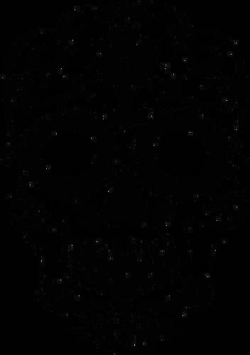 Decorative skull silhouette