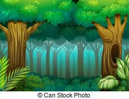 ... Deep Forest - Illustration Of A Deep-... Deep Forest - Illustration of a deep forest scene-2