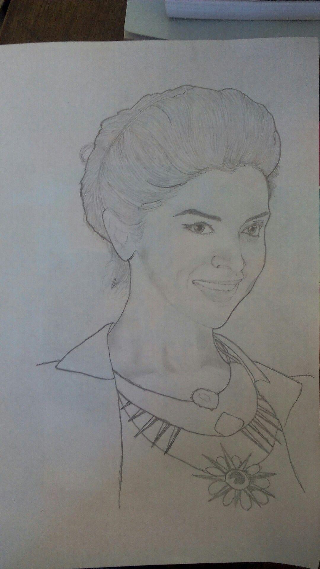 Deepika Padukone, Sketch, Pencil