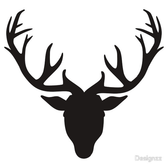 deer antlers clipart black and white