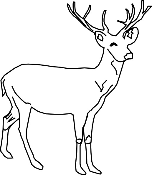 Deer Clip Art Free Vector 78.37KB-Deer clip art Free vector 78.37KB-8