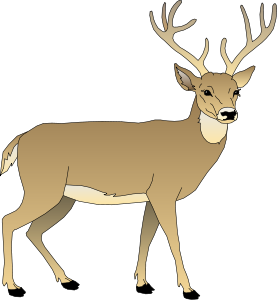 Deer clip art vector free clipart images