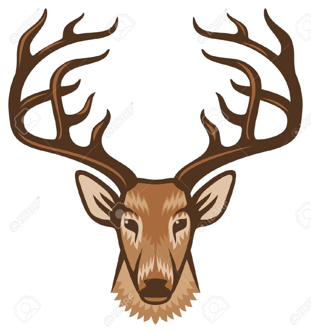 Deer face clipart - ClipartFest-Deer face clipart - ClipartFest-13