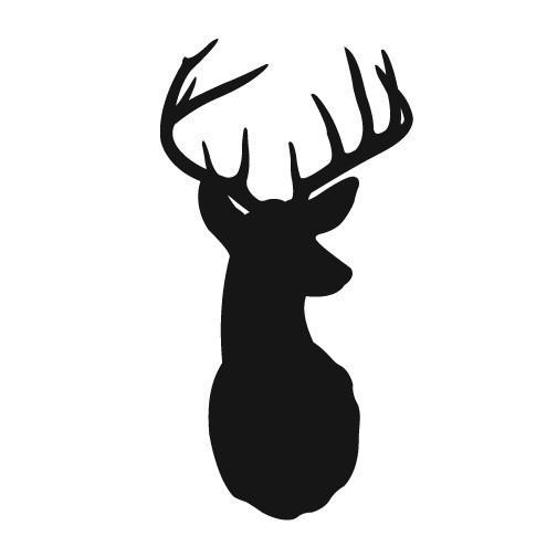 Deer Head Silhouette Clip Art | Printabl-Deer Head Silhouette Clip Art | Printables, Coloring, and Fonts | Pinterest | Vinyls, Deer with antlers and Graphics-3