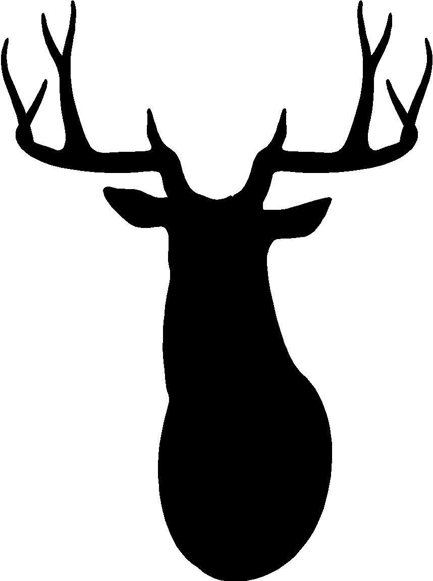 ... Deer Head Silhouette Clip Art - Clip-... Deer Head Silhouette Clip Art - clipartall ...-4
