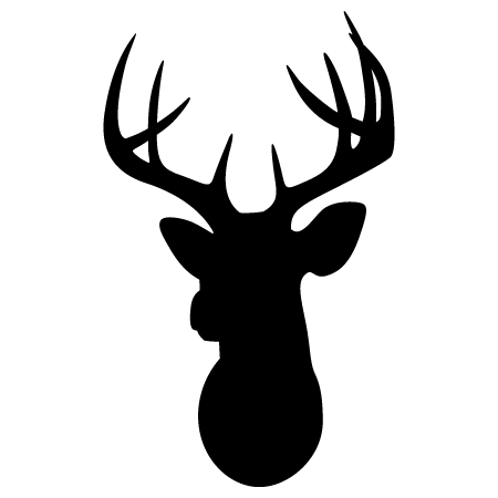 Deer Head Silhouette Wall .