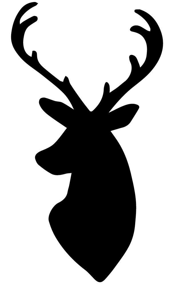 deer head silouette | My dear husband wh-deer head silouette | My dear husband whipped up this deer head silhouette pattern for me-11