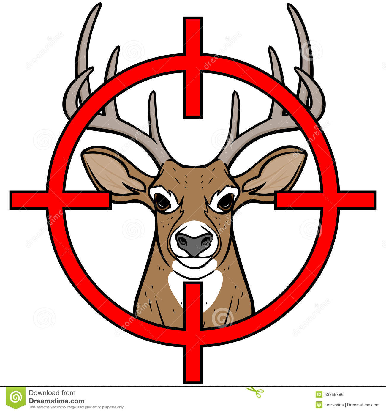 Deer Hunting Royalty Free .-Deer Hunting Royalty Free .-11