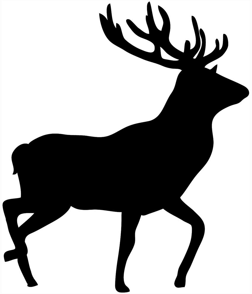 ... deer silhouette black stag-... deer silhouette black stag-2