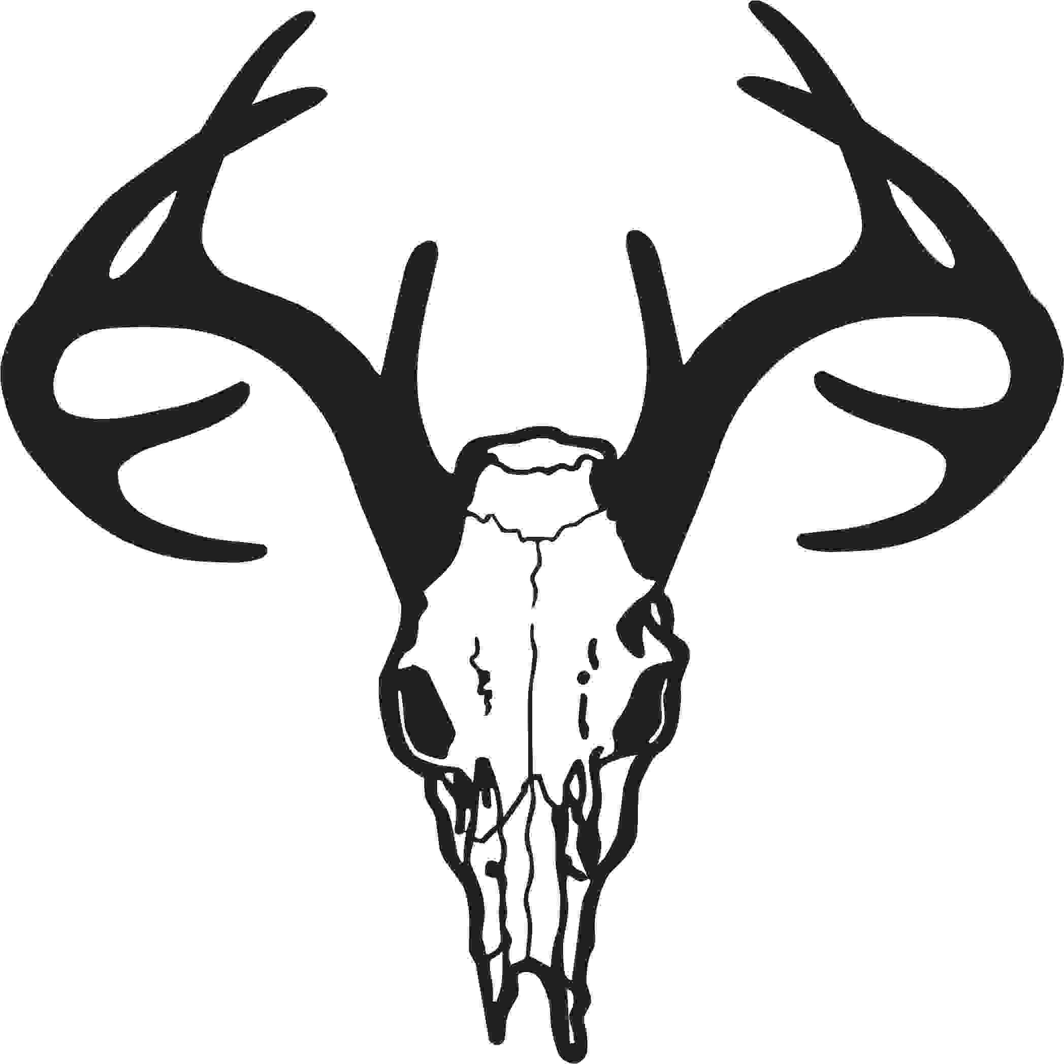 Deer Skull Clipart-Deer skull clipart-7