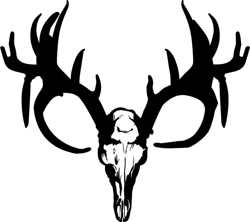 Deer Skull Decal Drop Tine Free Clipart -Deer Skull Decal Drop Tine Free Clipart Images-9