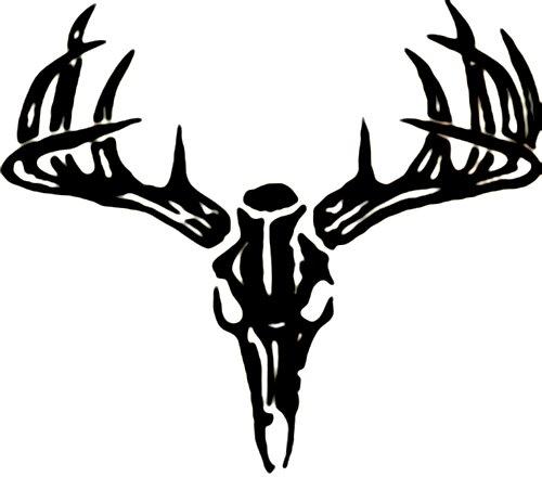 Deer Skull Wall Decal-Deer Skull Wall Decal-16