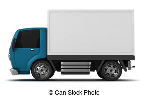 ... Delivery Truck - 3D Illustration of a Delivery Truck Delivery Truck Clip Artby ...